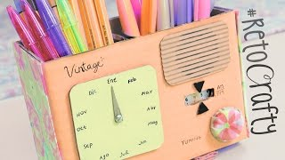 getlinkyoutube.com-#RetoCrafty: Radio vintage con Calendario y Lapicero ✎ Craftingeek