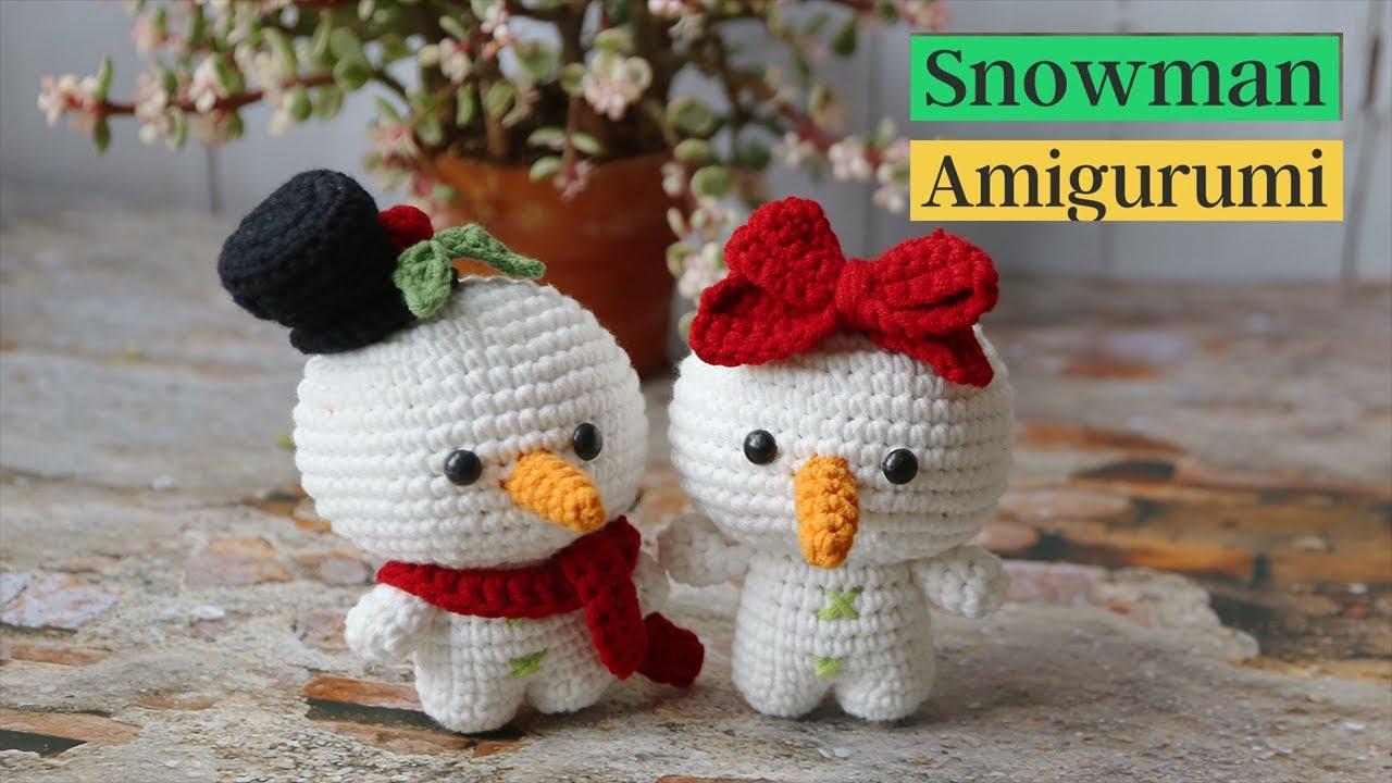 How to crochet a Snowman amigurumi (P1)