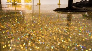 getlinkyoutube.com-DIY Metallic Epoxy Floor Application (Gold Glitter)