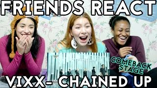 getlinkyoutube.com-FRIENDS REACT: 빅스 (VIXX) - 사슬 (Chained Up) & Hot Enough Comeback Stage