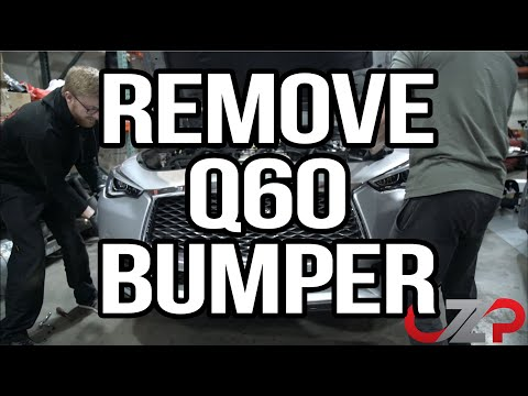 How To Remove Your Infiniti Q60's Front Bumper Properly