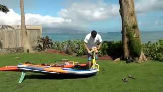 getlinkyoutube.com-Starboard Air Plane 2015 Inflatable Windsurf Slalom Freeride Board