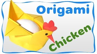 getlinkyoutube.com-Origami Easter Chicken Container for egg. Easy instructions for beginners.