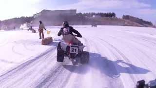 getlinkyoutube.com-2013 Atv Ice Racing pro class main quad Algona esr racing