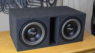 "getlinkyoutube.com-CT Sounds How To | Build a Ported Subwoofer Box for 2 12"" Subs"