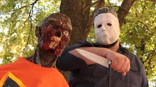 getlinkyoutube.com-Halloween Zombie BLOODFEST! Ft  Michael Myers | Zombie Go Boom