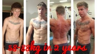 getlinkyoutube.com-skinny to muscular body transformation 30kg gain