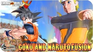 getlinkyoutube.com-Goku and Naruto Fusion: Goruto VS Sasuke, Frieza and Shenron - Dragon Ball Xenoverse mod