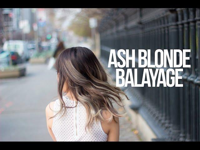 From Dark to Ash Blonde Balayage!