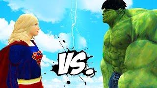 getlinkyoutube.com-THE INCREDIBLE HULK VS SUPERGIRL - EPIC SUPERHEROES BATTLE