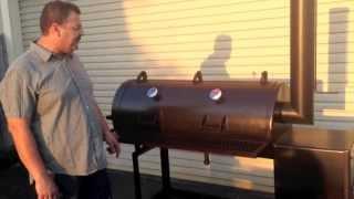"getlinkyoutube.com-KAT BBQ Smokers 48""x 20"" Reverse Flow Smoker"