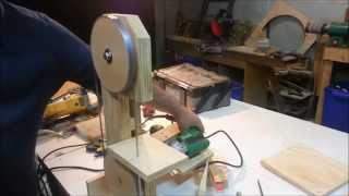 Homemade Bandsaw - Drill Powered!