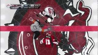 nhl 12 - (be a gm) game #4 vs new jersey devils