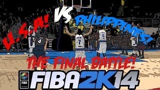 getlinkyoutube.com-FIBA 2K14 Gilas Pilipinas vs The World #31 - Vs USA
