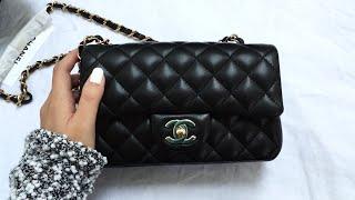 getlinkyoutube.com-Chanel Classic Flap Rectangle Mini Unboxing