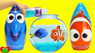 getlinkyoutube.com-Finding Dory, Nemo, and Squirt Swimmers in Orbeez with Mashems Surprises