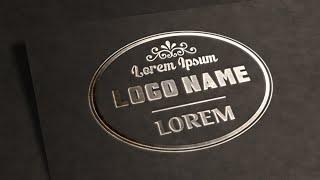 getlinkyoutube.com-Photoshop Tutorial | Logo Design | Text Effects (Metallic Stamping)