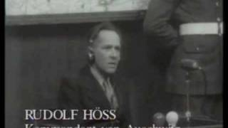 getlinkyoutube.com-Rudolf Hoess, former Auschwitz commandant, testifying at the Nuremberg trial, April 15, 1946