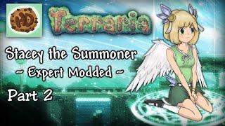 getlinkyoutube.com-Terraria 1.3.3 Expert Modded Summoner Part 2 | Stacey vs King Slime!
