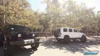 "getlinkyoutube.com-Jeep Wrangler Rubicons - One on 24"" Fuel Wheels & One on 24"" DUB Wheels by California Wheels"