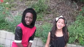 getlinkyoutube.com-Ariana Grande / Mac Miller The Way cover by Ashley (12) and Dante (14) music video
