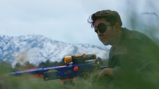 getlinkyoutube.com-The Great Nerf War: Full On Bull