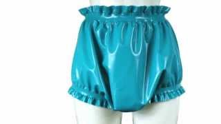 getlinkyoutube.com-Latex rubber diaper covers, bloomers & adult baby clothes