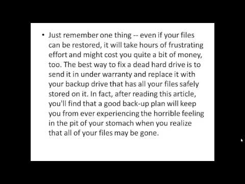 Hard drives fail | It's a fact of life for anyone who uses a computer