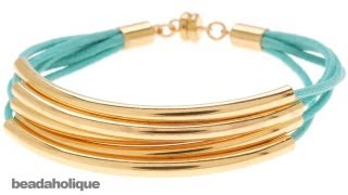 How to Use Round Cord Ends to Finish a Faux Wrap Bracelet