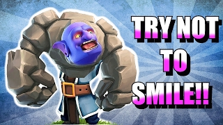 getlinkyoutube.com-TRY NOT TO SMILE!! 😀IMPOSSIBLE CHALLENGE!! 😀CLASH OF CLANS!!!