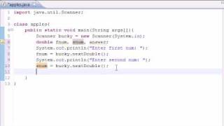 Java Programming Tutorial - 7 - Building a Basic Calculator