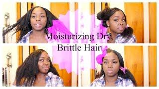 getlinkyoutube.com-Moisturizing Dry Brittle Damaged Hair| Relaxed Hair