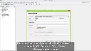 Connect SQL Server 2012 with Netbeans (with english subtitle)