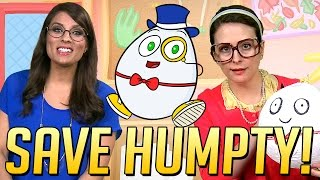 getlinkyoutube.com-Saving Humpty Dumpty: A Cool School Nursery Rhyme & Craft w/ Ms. Booksy & Crafty Carol