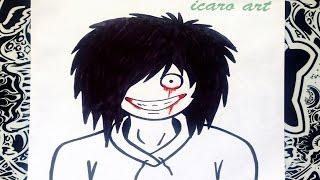 getlinkyoutube.com-Como dibujar a jeff the killer | how to draw jeff the killer