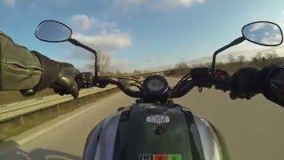 Yamaha XSR 700 top speed v max on german autobahn