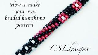 getlinkyoutube.com-How to make your own beaded kumihimo pattern