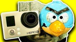 getlinkyoutube.com-Angry Birds Vs GoPro Vs Blender Dark Side Knock Off Toy Disaster