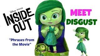 getlinkyoutube.com-Disney Pixar Inside Out Movie Toy DISGUST Talking Plush Figure