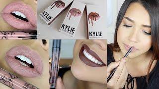 getlinkyoutube.com-#LipKitByKylie #KylieLipKit Lipsticks Review Swatches - Ydelays