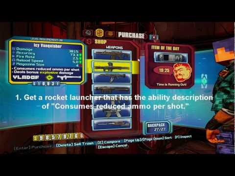 Borderlands 2: Best Infinite Ammo Glitch! NO MODS! (Xbox 360/PS3/PC)