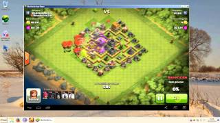 getlinkyoutube.com-Clash of Clans - Ayuntamiento nivel 6 Super Defensa PROBADA