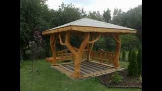 getlinkyoutube.com-Niepowtarzalne Meble Ogrodowe z krzywych bali EKO-GARDEN / amazing outdoor garden furniture
