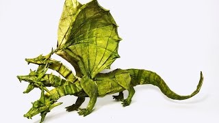getlinkyoutube.com-Top 10 Most Amazing Origami Dragons Of All Time - 2016