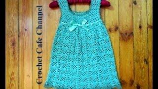 getlinkyoutube.com-كروشيه فستان لطفلة أو Vest | #كروشيه_كافيه#Crochet Cafe