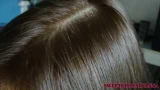 Revlon Colorsilk in Lightest Golden Brown #57: On Dark Hair
