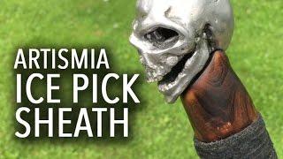 getlinkyoutube.com-Skull Ice Pick (Pt. 2) Making the Sheath/Cane ~ Artismia Welded Sculpture