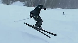 getlinkyoutube.com-DOUBLE BLACK DIAMOND SKIING! ♦♦