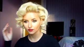 getlinkyoutube.com-Vintage Marilyn Monroe Pin Curls Hair Tutorial