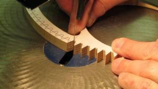 getlinkyoutube.com-Cutting Wood Gear & Clock Wheel Teeth